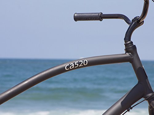 Firmstrong Men's CA-520 Alloy Three Speed Beach Cruiser Bicycle, 26-Inch, Matte Black