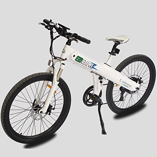 """E-go 26"""" Inch White Electric Bicycle City E Bike 48v 500w Moped Pedal Assist"""