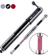 Mini Bike Pump with Gauge by PRO BIKE TOOL - Presta & Schrader Valve Compatible - Reliable, Quick & Easy Bicycle Tire Pump for Road, Mountain & BMX Bikes - High Pressure 120 PSI - Frame Mount Kit