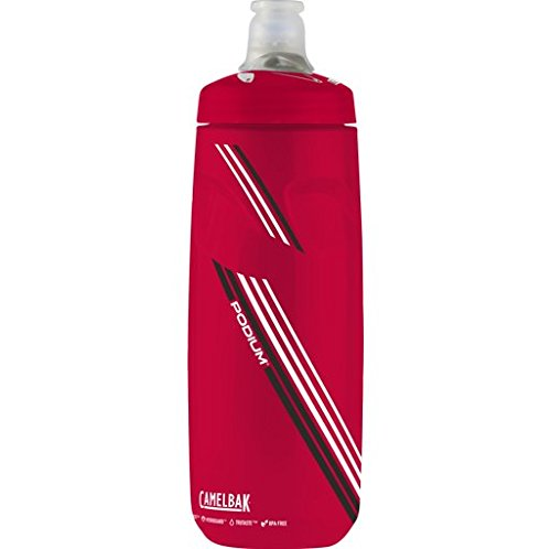 CamelBak Podium Water Bottle, 21 oz, Clear Red