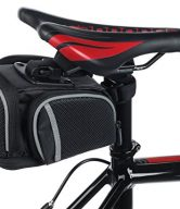 Bike Saddle Bag By Geared2U - 4 Compartment & Pocket Clip On Bicycle Under Seat Pack To Carry All Your Important Biking Accessories For Cycling Or Work - No Risk