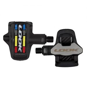 Look 2014 Keo Blade 2 Pro Team Chromoly Classic Mondrian Logo Road Bicycle Pedals (Carbon - Cr 12)