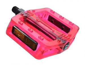 """Black Ops Translucent Bicycle Pedals, 1/2"""", Red"""