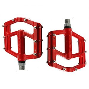 Wellgo MG-5 Magnesium BMX Mountain Bike Pedals Red