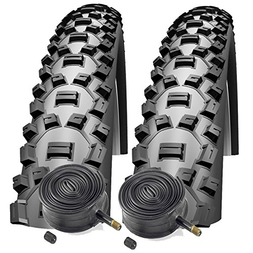 """Schwalbe Nobby Nic 26"""" x 2.1 Mountain Bike Tires with Schrader Tubes (Pair)"""