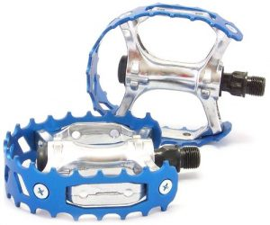 VP Components VP-747 Bear Cage Trap Old School BMX Pedal, Blue, 9/16-Inch