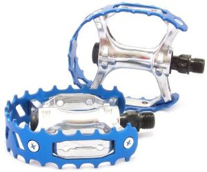 VP Components VP-747 Bear Cage Trap Old School BMX Pedal, Blue, 1/2-Inch