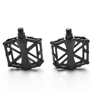 """Agptek Mountain Bike Pedals Bicycle Pedals 9/16"""" MTB BMX Bearing Alloy Platform Pedals for Mountain Cycling Road Bicycles (Black)"""