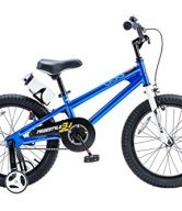 RoyalBaby BMX Freestyle Kids Bike, Boy's Bikes and Girl's Bikes with training wheels, Gifts for children, 18 inch wheels, Blue